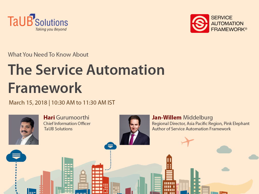 Service Automation Framework-Webinar