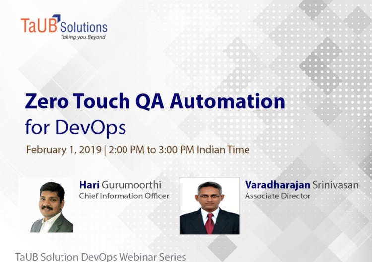 Webinar Zero Touch QA Automation for DevOps