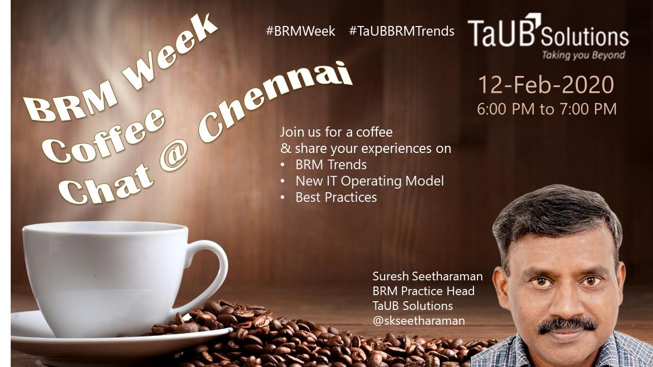 TaUB BRM Coffee Chat Chennai